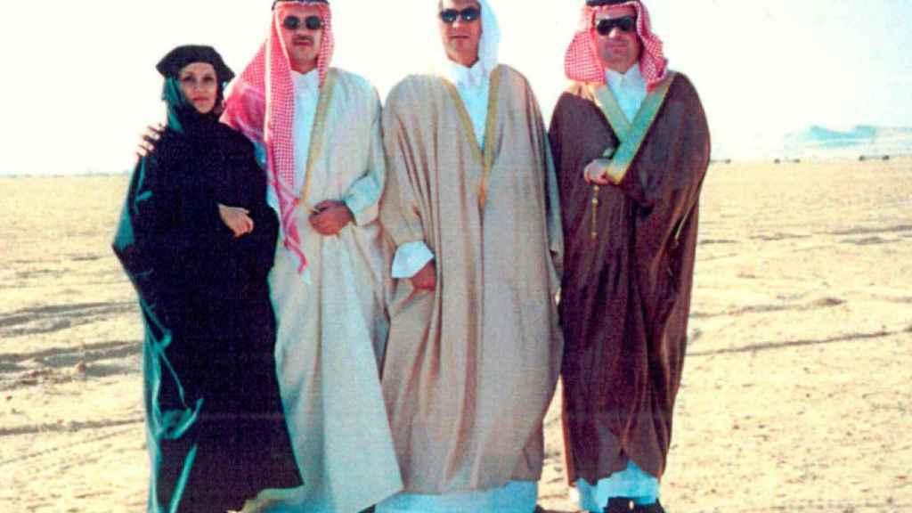 El empresario José María Clemente, a la derecha, en un viaje a Arabia Saudí.