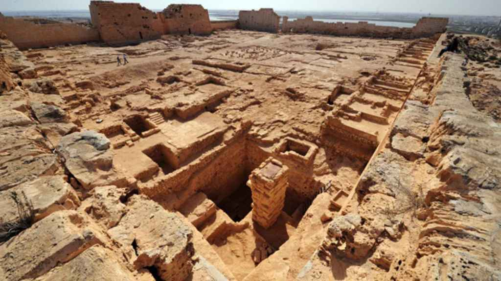 Ruinas del templo de Taposiris Magna.