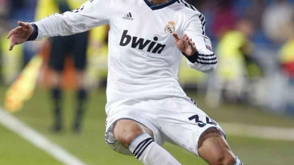 Jose Rodríguez en su debut con el Madrid en Champions