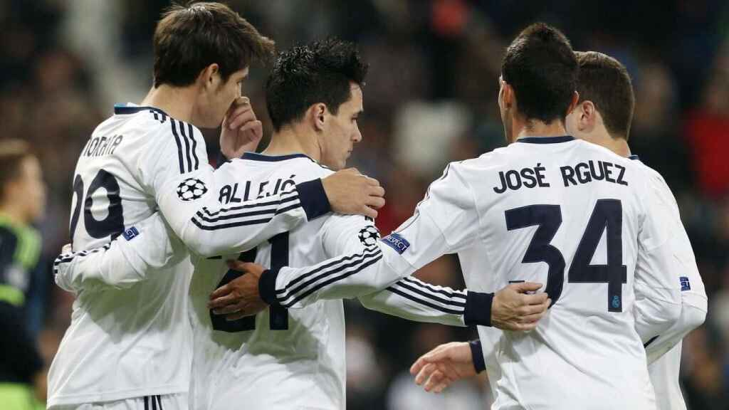 Jose Rodríguez celebrando un gol con el Real Madrid. Foto: Twitter (@Josseroodriguez)