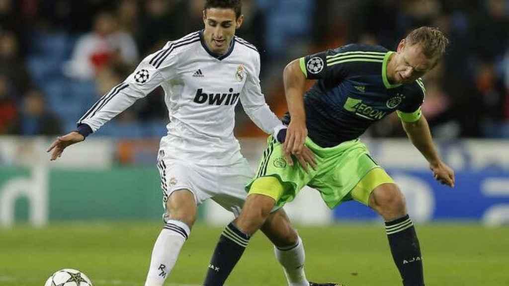 Jose Rodríguez ante el Ajax. Foto: Twitter (@Josseroodriguez)
