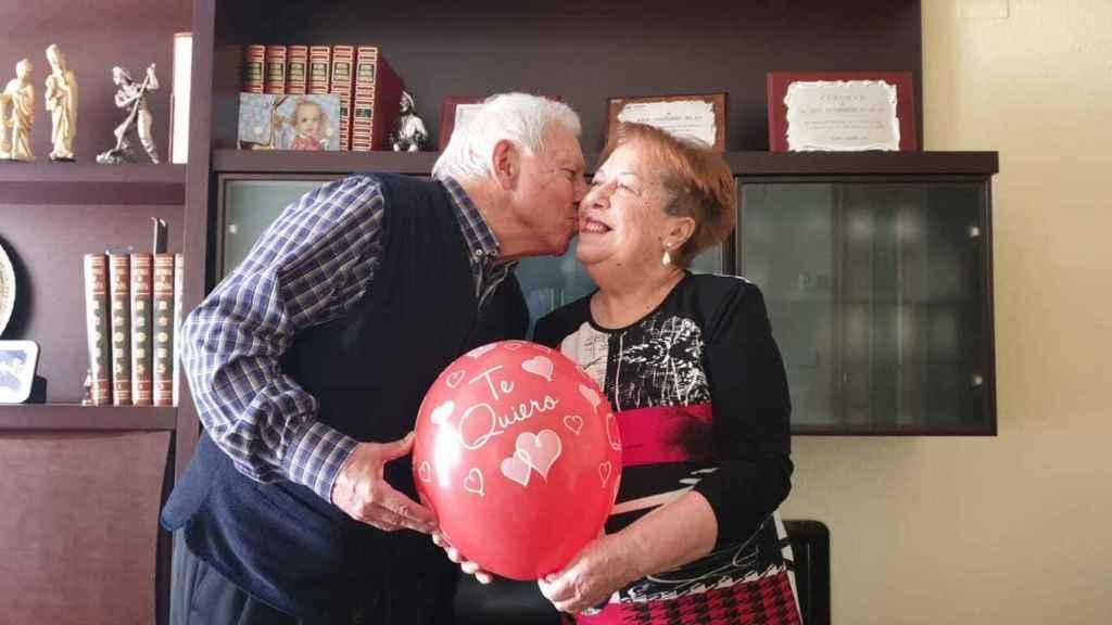 José Antonio y Mercedes comparten su vida desde hace 60 años.