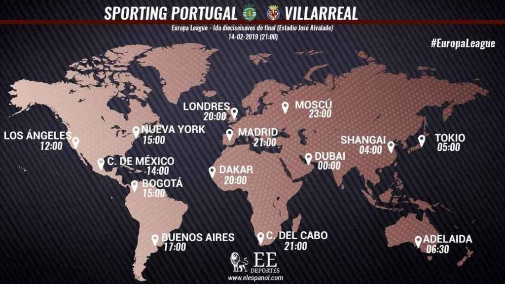 Horario Sporting de Portugal - Villarreal