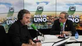 Carlos Alsina y Quim Torra.