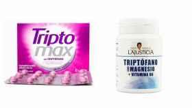 Dos marcas populares de suplementos con triptófano.