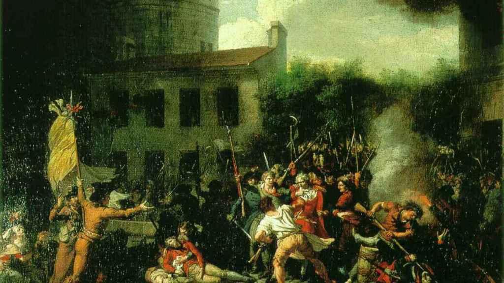 'Toma de la bastilla', pintado por Charles Thévenin en 1793.