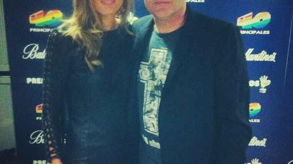 Mayte García y Santiago Cañizares. Foto Twitter: (maygarcia_1)