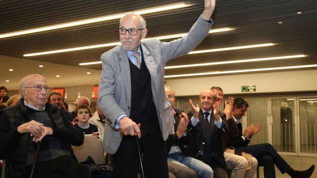 Manuel Briñas, fundador de la escuela del Atlético. Foto: atleticodemadrid.com