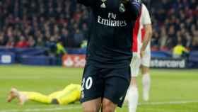 Asensio celebra su gol al Ajax