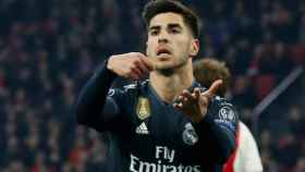 Asensio celebra su gol frente al Ajax