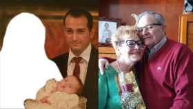 A la izquierda, Jesus, que estuvo casado con su esposa un mes. A la derecha, Engracia y Ángel, que comparten su vida desde hace 51 años.