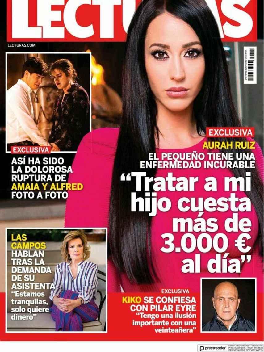Amaia Romero y Alfred García, en plena ruptura, en la portada de 'Lecturas'.