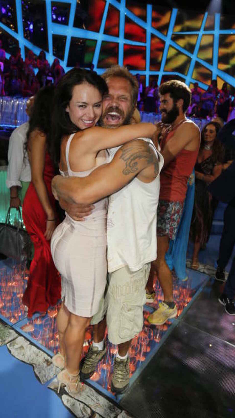 Nacho Vidal y Franceska Jaimes en la gala final de 'Supervivientes 2015'.