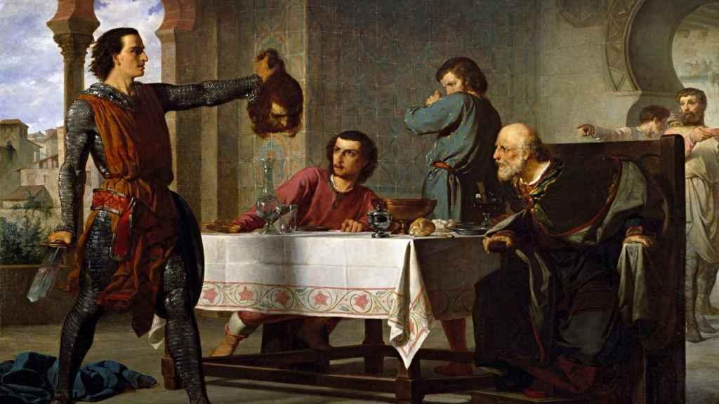 'Primera hazaña del Cid', un cuadro de Juan Vicens Cots