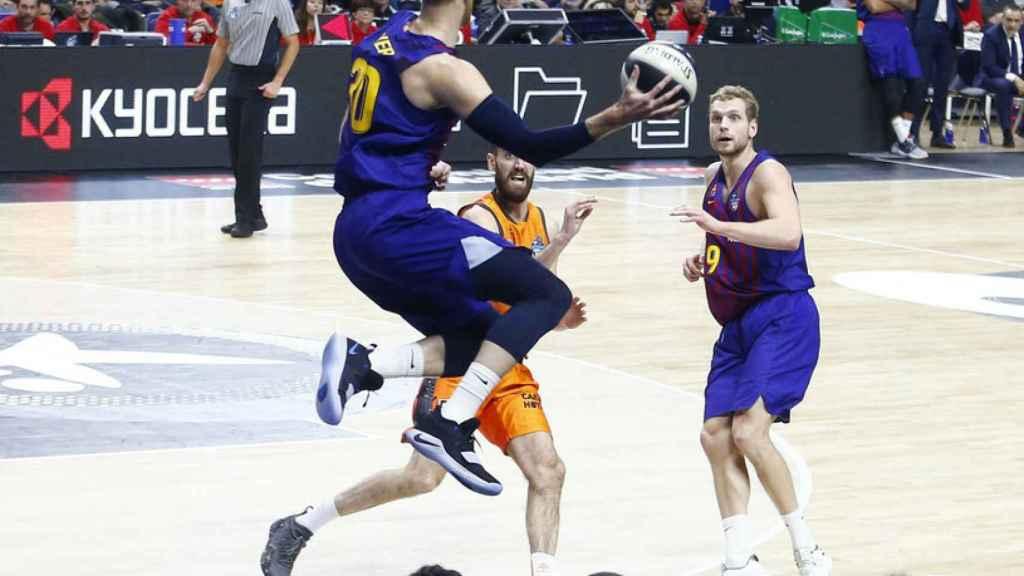 Barcelona Lassa - Valencia Basket de la Copa del Rey de baloncesto disputada en Madrid