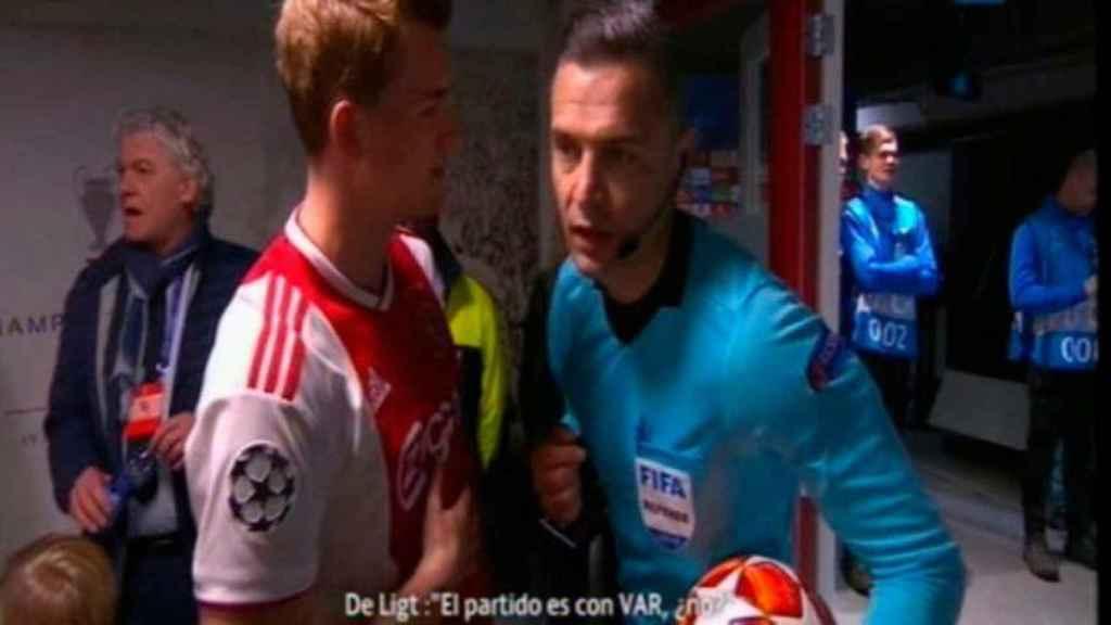 De Ligt antes de jugar contra el Real Madrid: El partido es con VAR, ¿no?