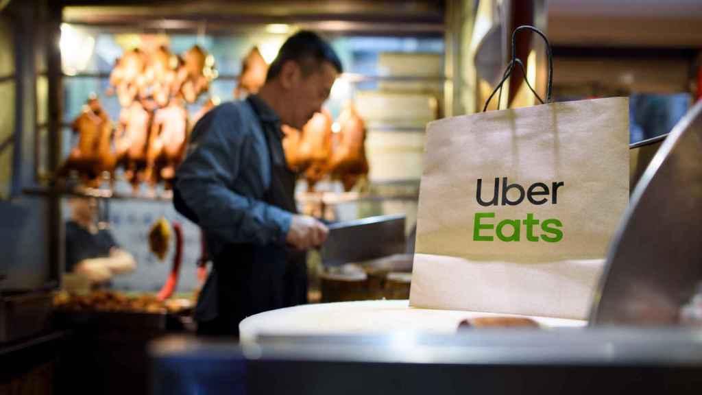 Foto de archivo de un restaurante de Uber Eats.