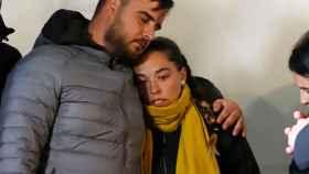 Los padres de Julen en una de las largas jornadas de rescate del niño.