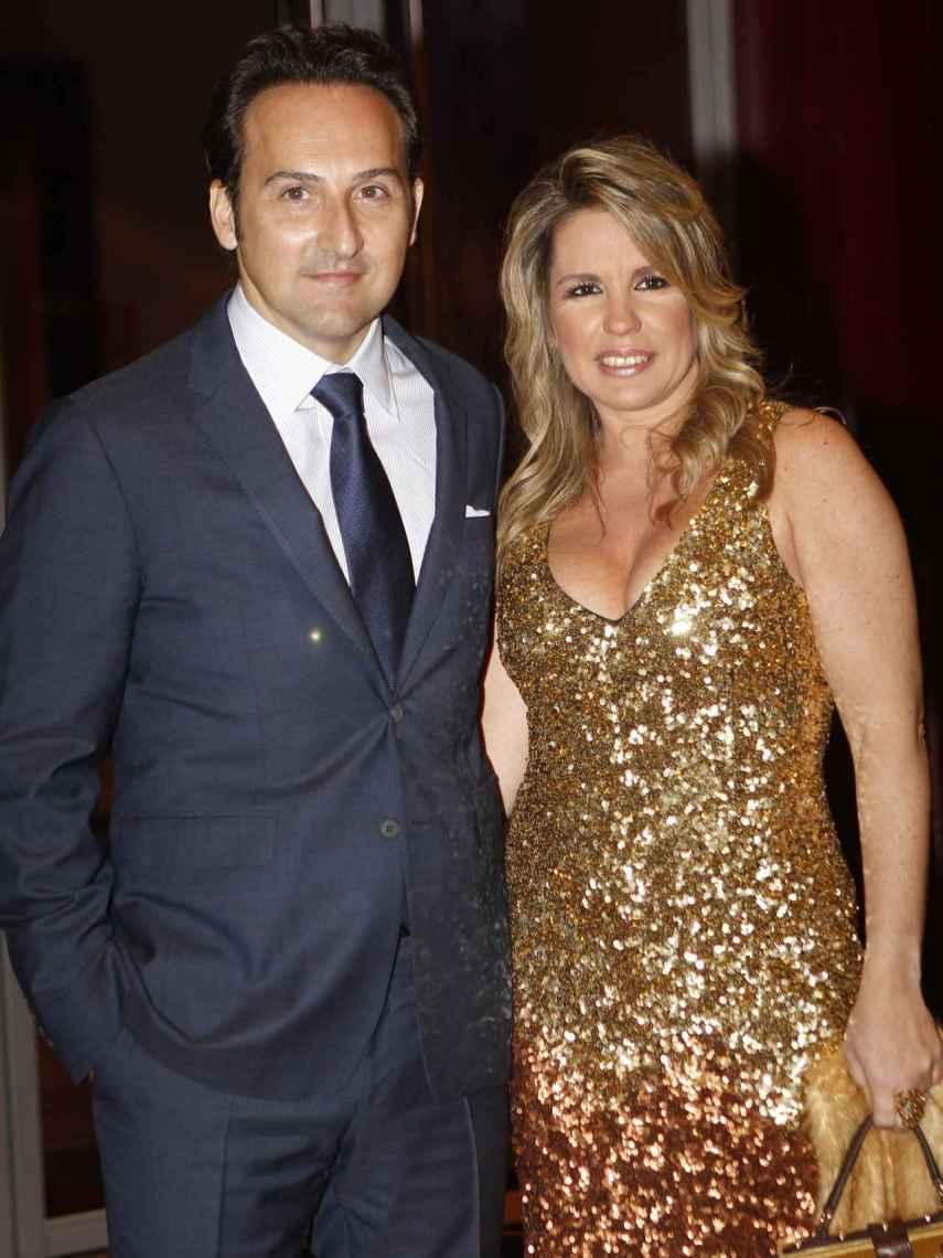 Iker y Carmen, en la 43º edición de la Antena de Oro en 2015.