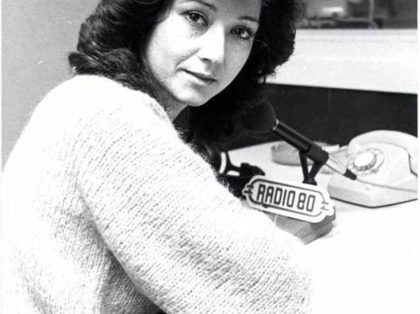 Ana Rosa Quintana en sus comienzos en la radio.