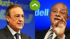 Florentino Pérez (ACS) y Josep Oliu (Sabadell)