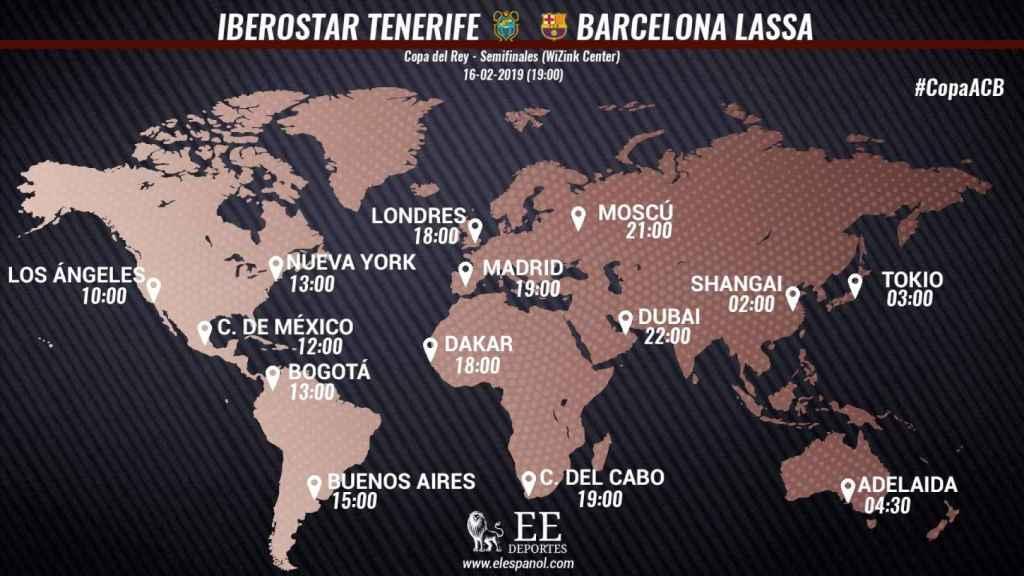 Horario Iberostar Tenerife - Barcelona Lassa