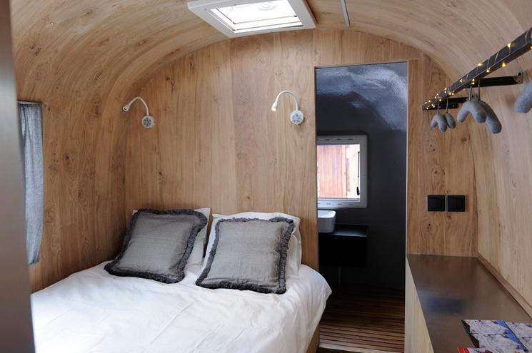 glamping caravana Schweppes Airstream Experience interior