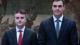 Iván Redondo y Pedro Sánchez.