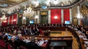 Vista del salón de plenos del Tribunal Supremo el pasado 12 de febrero./