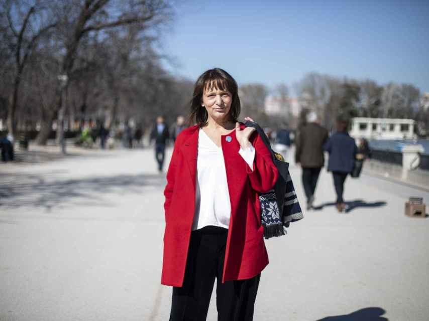 Carolina Bescansa, en el Parque del Retiro de Madrid.