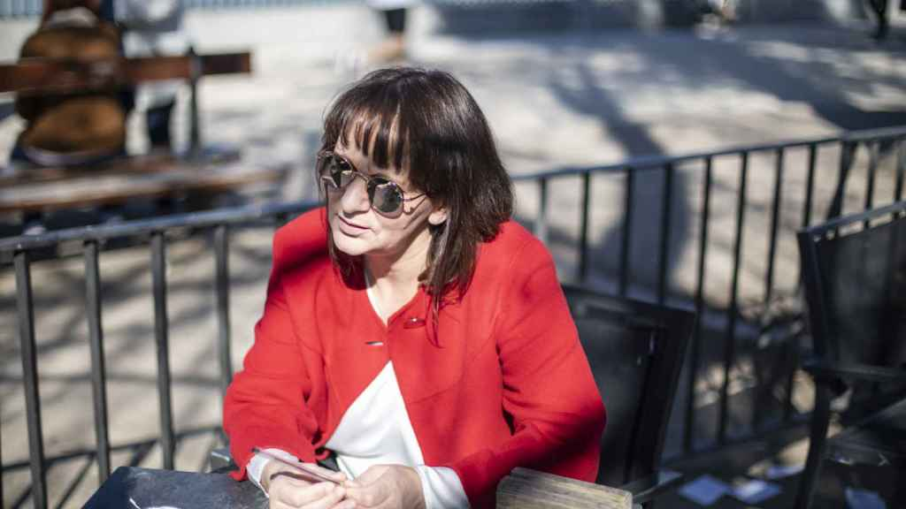 Carolina Bescansa, durante la entrevista con EL ESPAÑOL.