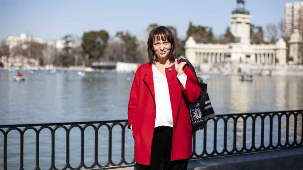 La fundadora de Podemos Carolina Bescansa, en Madrid.