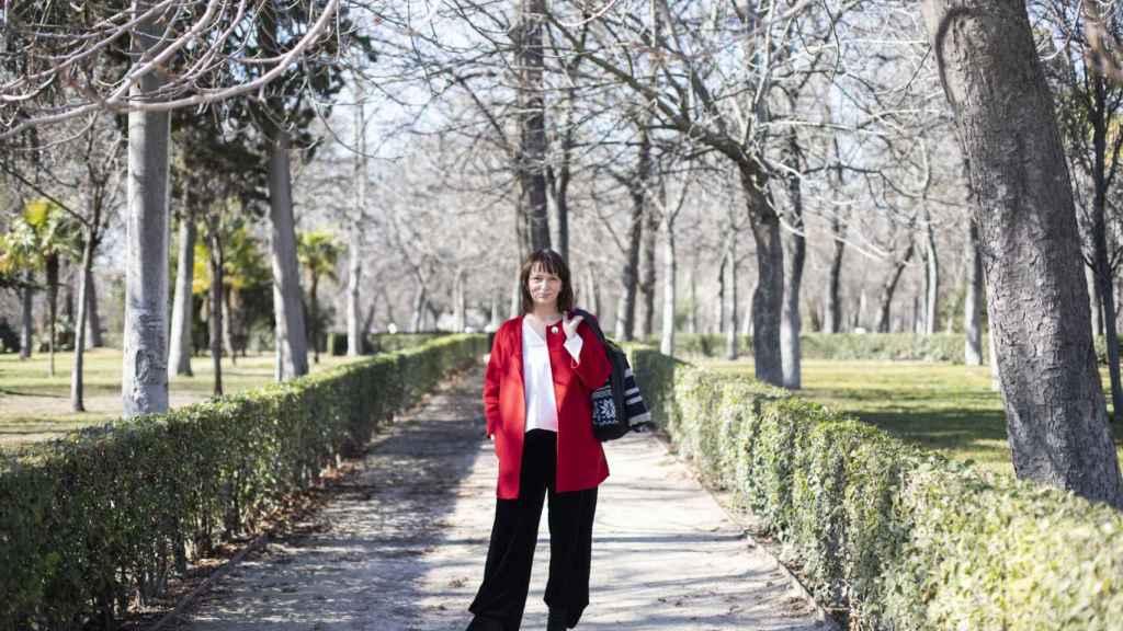 Carolina Bescansa en el Parque del Retiro.