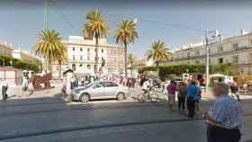 Plaza del Rey de Cádiz, donde tuvieron lugar los hechos.