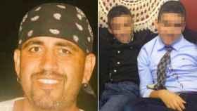 A la izquierda, una foto de Juanjo y a la derecha una imagen de sus dos hijos.