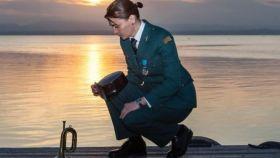 Lucía Llanos, con el uniforme de Guardia Civil.