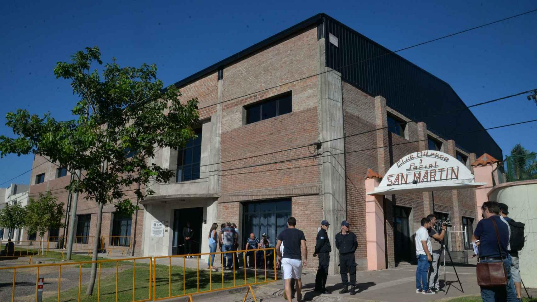 Sede del Club San Martín, lugar del velatorio de Emiliano Sala