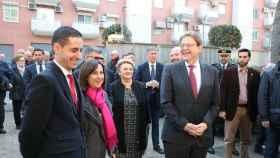 Margarita Robles, ministra de Defensa, junto a Ximo Puig, presidente de la Comunidad Valenciana.