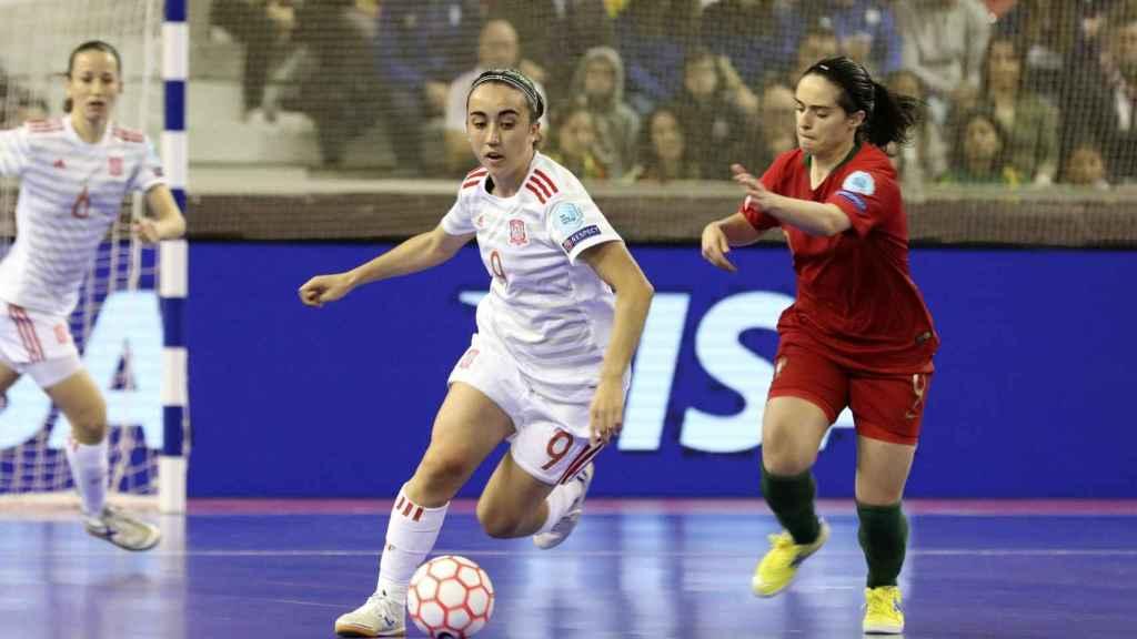 Imagen del partido entre Portugal y España