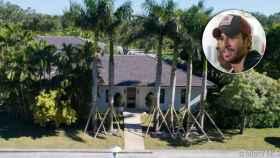 Enrique Iglesias en un montaje junto a su casa de Miami.