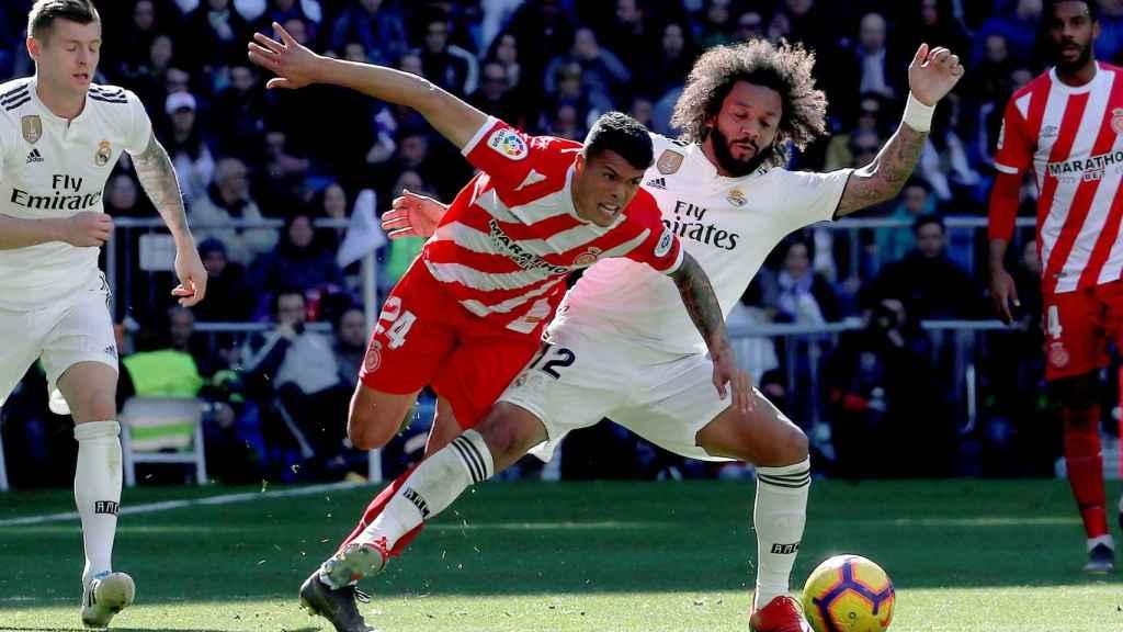 Marcelo roba el balón a Porro