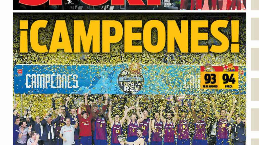 La portada del diario Sport (18/02/2019)