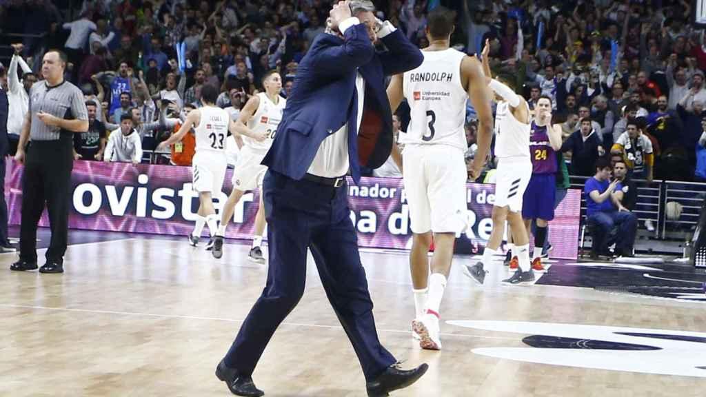 Pesic invadió el campo durante la final contra el Real Madrid
