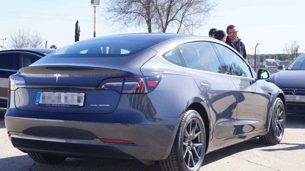 Vista trasera del Model 3