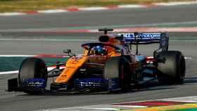 Carlos Sainz, de la escudería McLaren, durante los tests de Barcelona de Fórmula 1