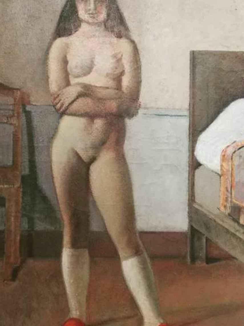 Desnudo en la silla, Balthus. Museo Thyssen.