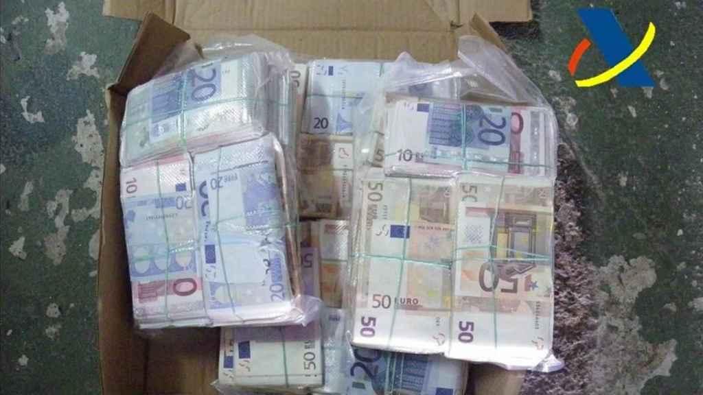 Dinero incautado en el marco de la Operación Zebra. Foto: Agencia Tributaria
