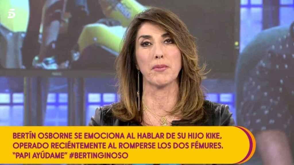 La presentadora Paz Padilla, emocionada, envía un mensaje a su amigo Bertín Osborne.