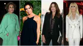 De izquierda a derecha: Naty Abascal, Victoria Beckham, Carla Bruni y Donatella Versace.
