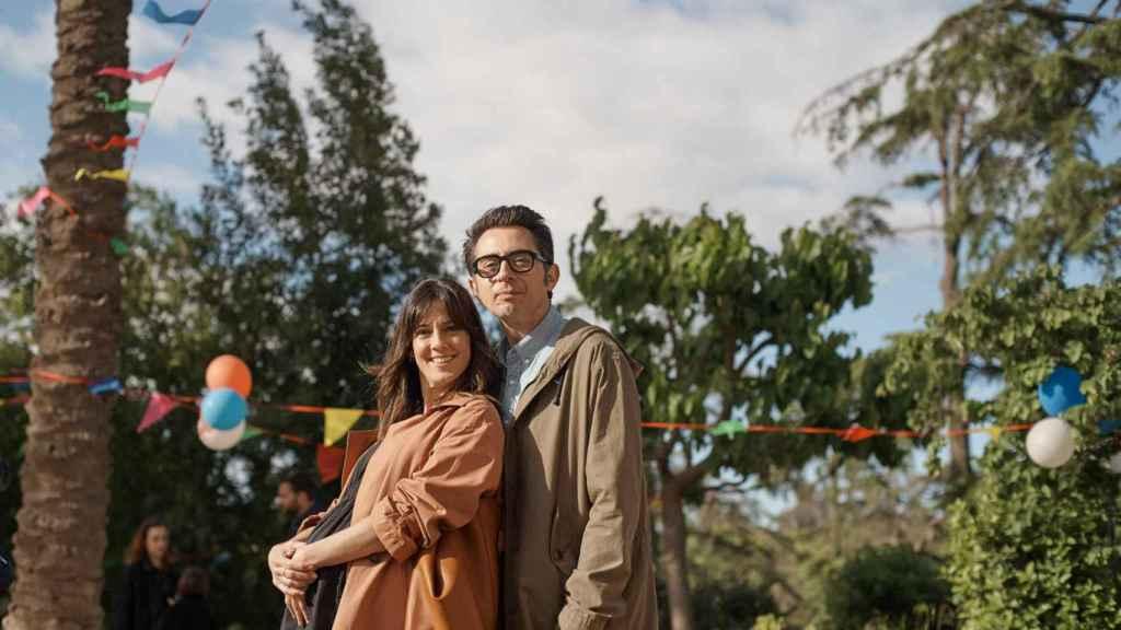 Berto y Eva Ugarte en la serie.